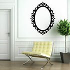 PICTURE FRAME OVAL MIRROR DECORATIVE contempory vintage VINYL WALL ART STICKER
