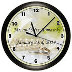 WEDDING WALL CLOCK PERSONALIZED GIFT WALL DECOR ART BRIDE GROOM MARRIAGE MARRIED