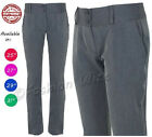 Ladies Girls Smart School Office Trousers Size 6 8 1012 14 Skinny Leg Grey