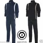 Nike Mens Tracksuit Full Zip Training Suit Joggers Navy Black All Sizes 481265