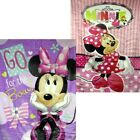 "Licensed Minnie Mouse 60"" x 80"" Royal Plush Mink Raschel Blanket -in 2 Styles"