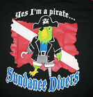 scuba diving Tshirt yes i am a pirate equipment dredging gear snorkeling diver