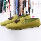 Nubuck Leather Casual SLIP-ON Tassel Loafer mens drive shoes moccasin [JG]