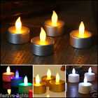 4 LED BATTERY OPERATED TEA LIGHT WEDDING FLAMELESS FLICKERING TEALIGHT CANDLES