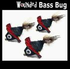 Wounded Bass Bug for fly fishing rod, reel and line – Unique Fly !