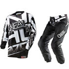 Oneal MX Element Racewear Black/White Motocross Jersey & Pants Gearset