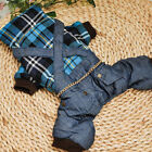 Pet Dog Puppy Apparel Clothes Clothing Small Dog Plaid shirt Overalls Jumpsuit