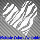 Custom Heart Vinyl Sticker, Heart with Zebra Stripes, Multiple Colors, Heart105