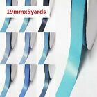 "Double Faced Satin Ribbon 3/4"" /19mm. 5 Yards/ ,Lot Blue s #352 to #374 for bow"
