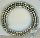 3mm Natural Pyrite Round Beads 15.5""