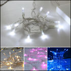 BATTERY OPERATED 10 20 LED FAIRY STRING LIGHTS CHRISTMAS PARTY CLEAR CABLE