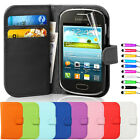 Flip Wallet Leather Case Cover For Samsung Galaxy Fame S6810 + Screen Guard