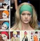 Women Lady Colored wide yoga headband stretch hairband elastic hair band turban