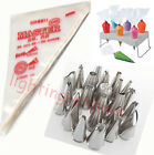 24x Icing Piping Nozzles 100pcs Disposable Bag Cake Decorating Tools Pastry Tips
