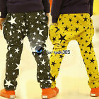 Spring Autumn Boy Baby Child kids Small Big Mixed Star Harem Pants Trousers 3-8Y
