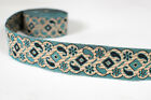 """1.20"""" (3.04 Cm) wide By The Yard Jacquard Trim Woven Border Sew Ribbon T268"""