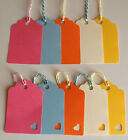 Handmade Scalloped Mixed Bright Gift Tags / Lables Wedding favor / Name Card