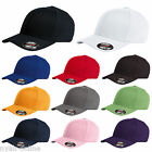 NEW PLAIN FLEXFIT CAP FITTED CLASSIC BASEBALL CAPS FLEXIFIT PEAK HAT S-M-L-XL