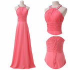 New Stock Long Evening Gown Bridesmaid Dresses Formal Party Pageant Prom Dresses
