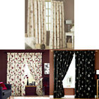 Dreams 'N' Drapes Rosemont Floral Print Pencil Pleat Lined Curtains