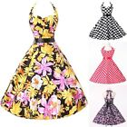 Graceful 1950s 1960s Vintage Rockabilly SwingCotton Bridesmaid Gown Prom Dresses