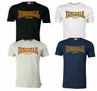 Lonsdale CLASSIC T-Shirt Flock Print Logo 100% Cotton Boxing Traditional XS-3XL