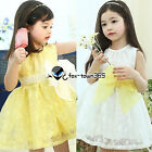 Spring Summer Baby Child Kids Girls Party Bow Knot Lace Sleeveless Dress 2-7Yr