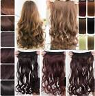 Curly/Wavy/Straight Clip in hair extensions 100% Full head not human hair