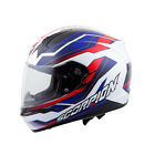 Scorpion Sports EXO 410 Airline Blue / Red Full Face Motorcycle Helmet