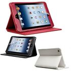 QQ-Tech 100% Genuine Leather Folio Case Cover with Built-in Stand for iPad/Mini