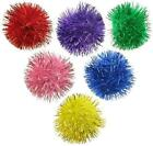 "GLITTER POM POM BALLS 1"" - Lots 7/14/35/70 Sparkly Small Pom Pom Ball Cat Toys"