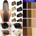 Cheap 8Piece Full Head Synthetic Hairpiece Clip in Hair Extensions Real as woman