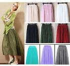 Fancy Tulle Drape Long Skirt Candy Dress Tulle Maxi Skirt UK Sizes S/M or L/XL