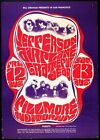 1966 Jefferson Airplane Grateful Dead Gig Poster A3/A2 Print