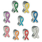 Silver Plated Enamel Awareness Ribbon Charm Beads for Parcord & DIY Jewelry