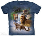 GLOBAL BIG CATS ~  Big Cat T-Shirt-The Mountain-Tie-Dye Classic Tee -100% Cotton