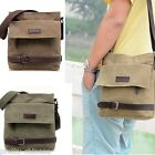 Classic Boys Mens Women Shoulder Bags Canvas Cross Body Casual Zip Leather New