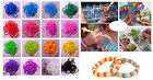 600pcs Rainbow Loom Refill Bands Bracelet DIY Braided Rubber Bracelets 24pcClips