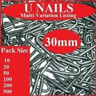 30mm U Nails   Heavy Duty Netting Staples   Galvanised Fencing Chicken Wire