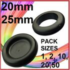 RUBBER GROMMETS ~ 20 & 25mm ~ OPEN & BLIND ~ VARIOUS PACK SIZES ~ ELECTRICAL