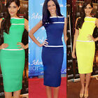 Vintage Pinup Rockabilly Party Pencil Womens Wear to Work Sheath Bodycon Dresses