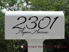 Elegant Mailbox Glossy Vinyl Decal personalized with address set of 2