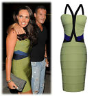 Women's Slim Fit V-Neck Halter Bodycon Bandage Cocktail Party Dress 5 Size XS~XL