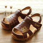 Summer Baby Boys Child Kids Toddlers Velcro Sandy beach PU Hole Sandals Shoes