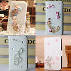 For Sony Xperia M2 D2305 3D bling FLIP WALLET card LEATHER CASE COVER holster