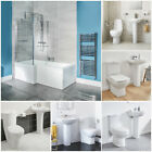 Left Hand L Shaped 1670 Shower Bath Includes Panel & Screen With Bathroom Suite