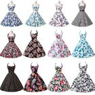 50s Vintage Punk Style Hobo Swing Rockabilly Tea Party Prom Evening Short Dress