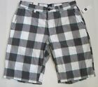 GAP Men's White/Gray Check Plaid Flat Front Short Waist Sizes 30,38 NWT