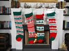 Vintage Knitted Christmas Stocking (75cm & 55cm) Choice of 7 Designs