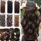 Promotion clip in hair extensions 1pcs long straight curly new thick corn wave